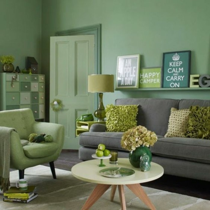 wohnzimmer gestalten grun ~ ihr ideales zuhause stil, Deko ideen