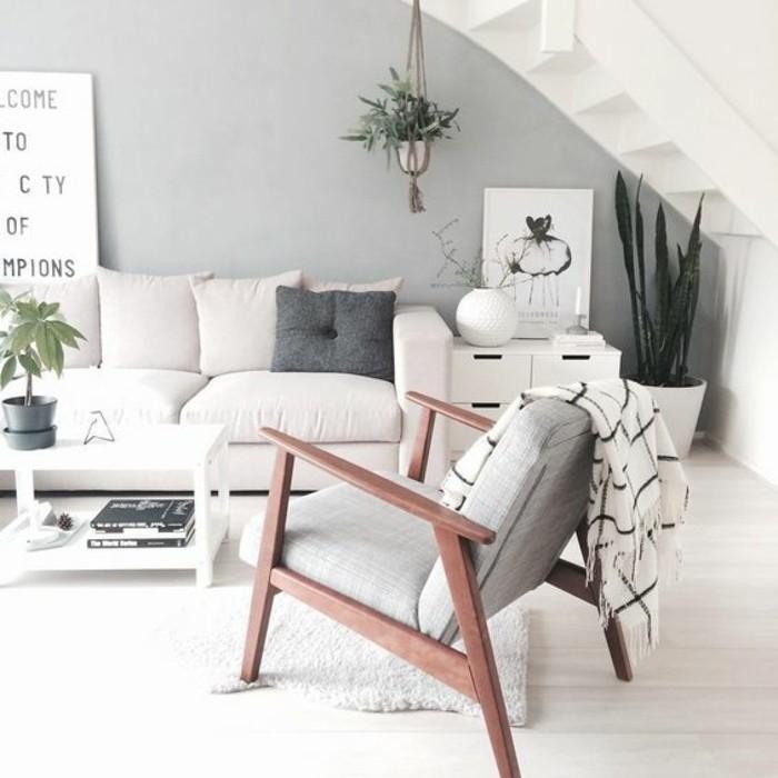 wohnzimmer deko grau:wohnzimmer deko ideen in helle grau und champagne