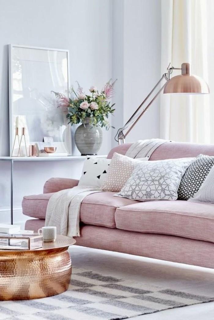 wohnzimmer rosa weiß:wohnzimmer deko ideen in rosa und weiß