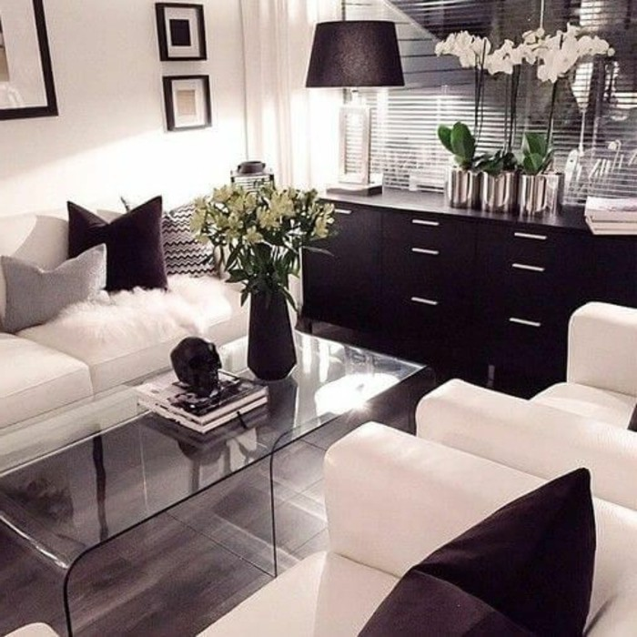 weiss dekor wohnzimmer. Black Bedroom Furniture Sets. Home Design Ideas