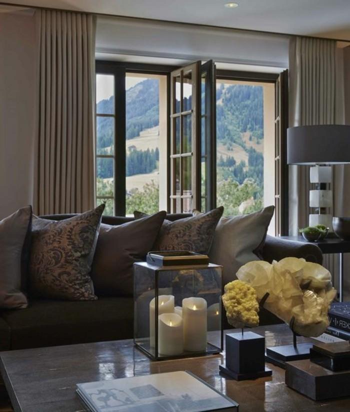 Wohnzimmer Deko Ideen Mit Silber Kerzen Bronze