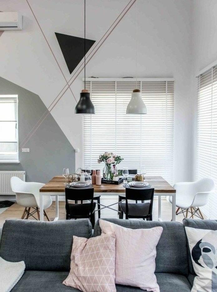 Wohnzimmer Lila Grau