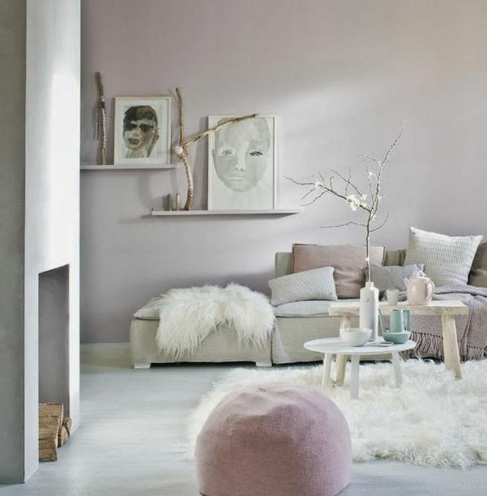 Wohnzimmereinrichtung Weiß Schwarz Rosa