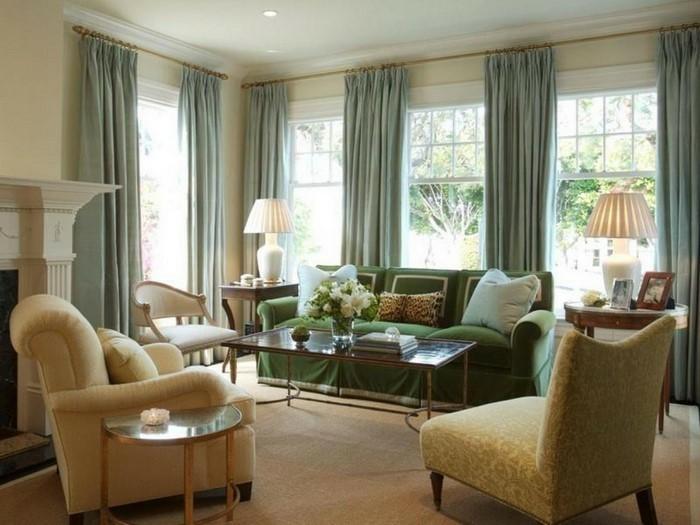 wohnzimmer-gardinen-ideen-fur-klassische-einrichtung