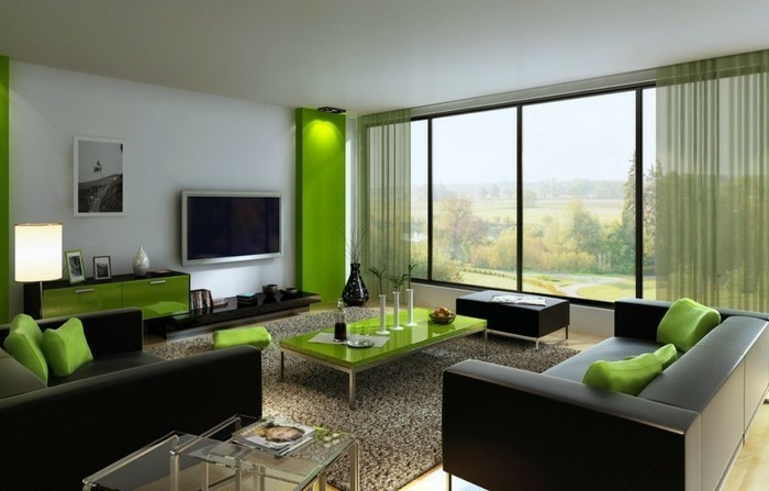 ... Gardinen Ideen Für Wohnzimmer By Wohnzimmer Vorhang Grun Modell  Sourcecrave ...