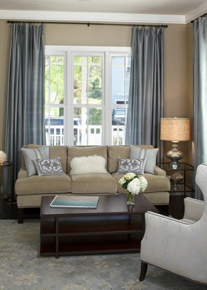 gardinen wohnzimmer braun. Black Bedroom Furniture Sets. Home Design Ideas