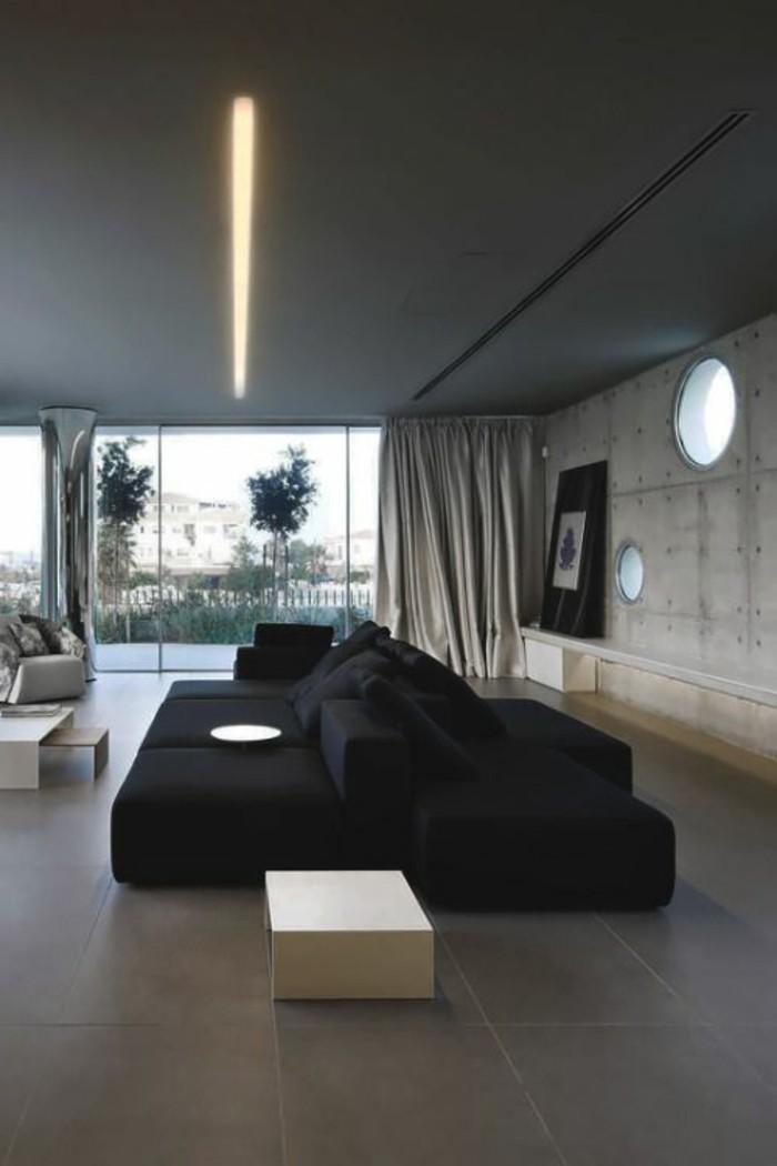 Wohnzimmer Schwarz Grau