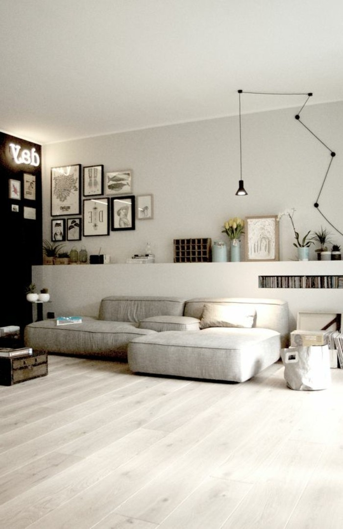 moderne deko wohnzimmer. Black Bedroom Furniture Sets. Home Design Ideas