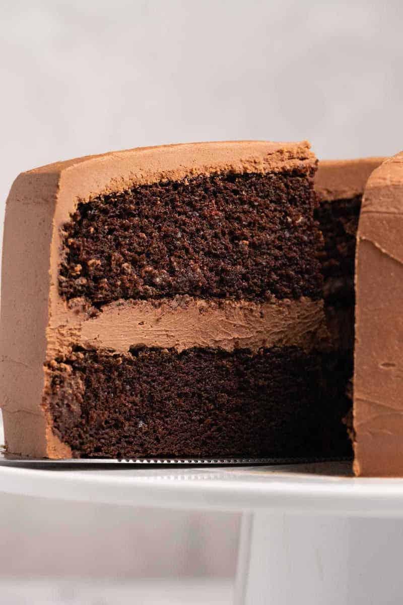 zweischichtige torte glutenfreier schokokuchen selber machen