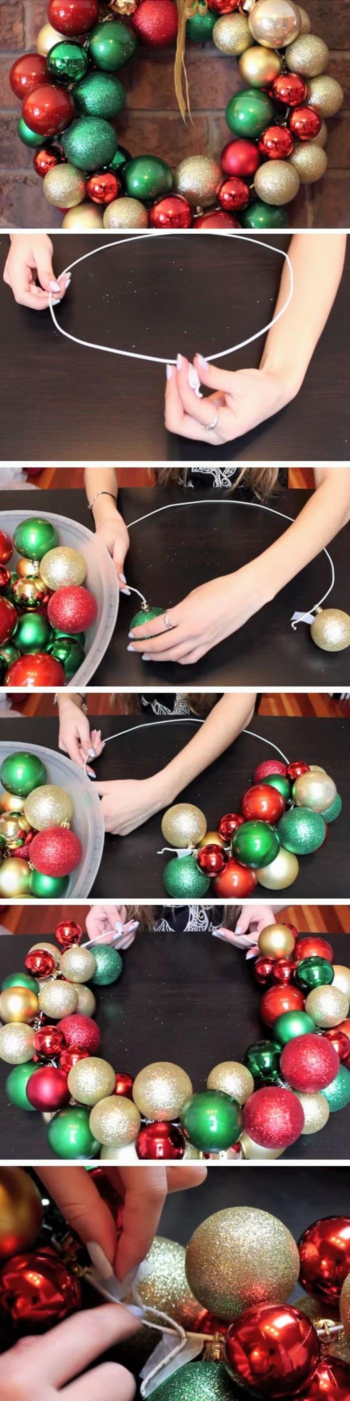 10-tuerkraenze-weihnachten-aus-gruenen-goldenen-und-roten-weihnachtskugeln