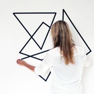Geometrische Formen - tolle Wandgestaltung mit Farbe