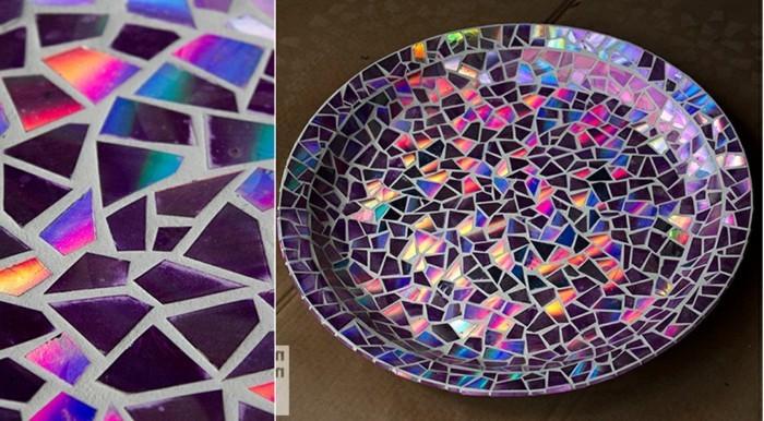 3mosaik-mit-cd-stucken-mosaikteller-bunte-mosaik-glanzende-mosaik-mosaiksteine