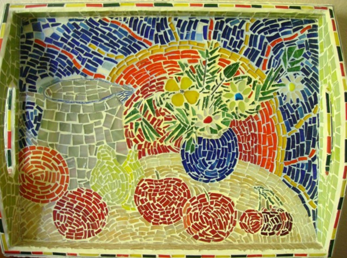 Mosaik basteln - prachtvolle Kunstwerke schaffen - Archzine.net