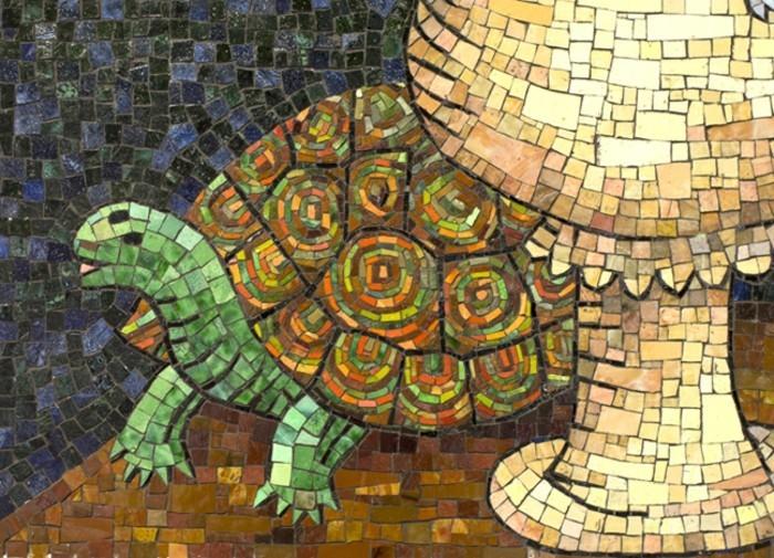 3mosaikbild-schildkrote-aus-mosaik-tiere-mit-mosaiksteinen-basteln-mosaikkunst-mosaik-basteln