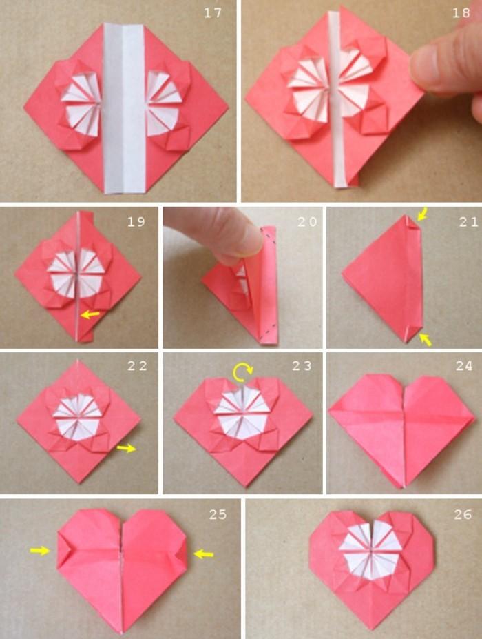 Как сделать сердечки из оригами