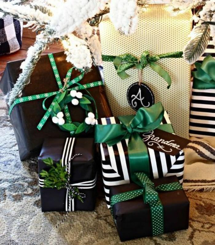 5-geschenkverpackung-geschenkbox-verpackungin-weis-und-schwarz-mit-grunen-schleifen
