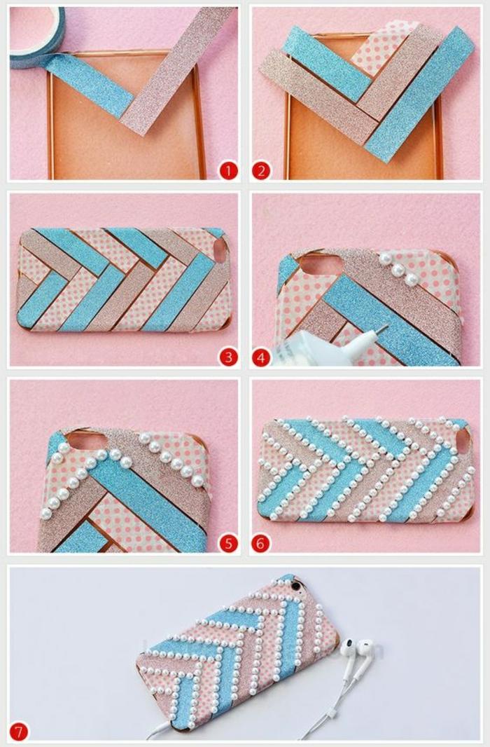 5-handyhulle-selbst-gestalten-handyhulle-gestalten-mit-klebeband-und-perlen