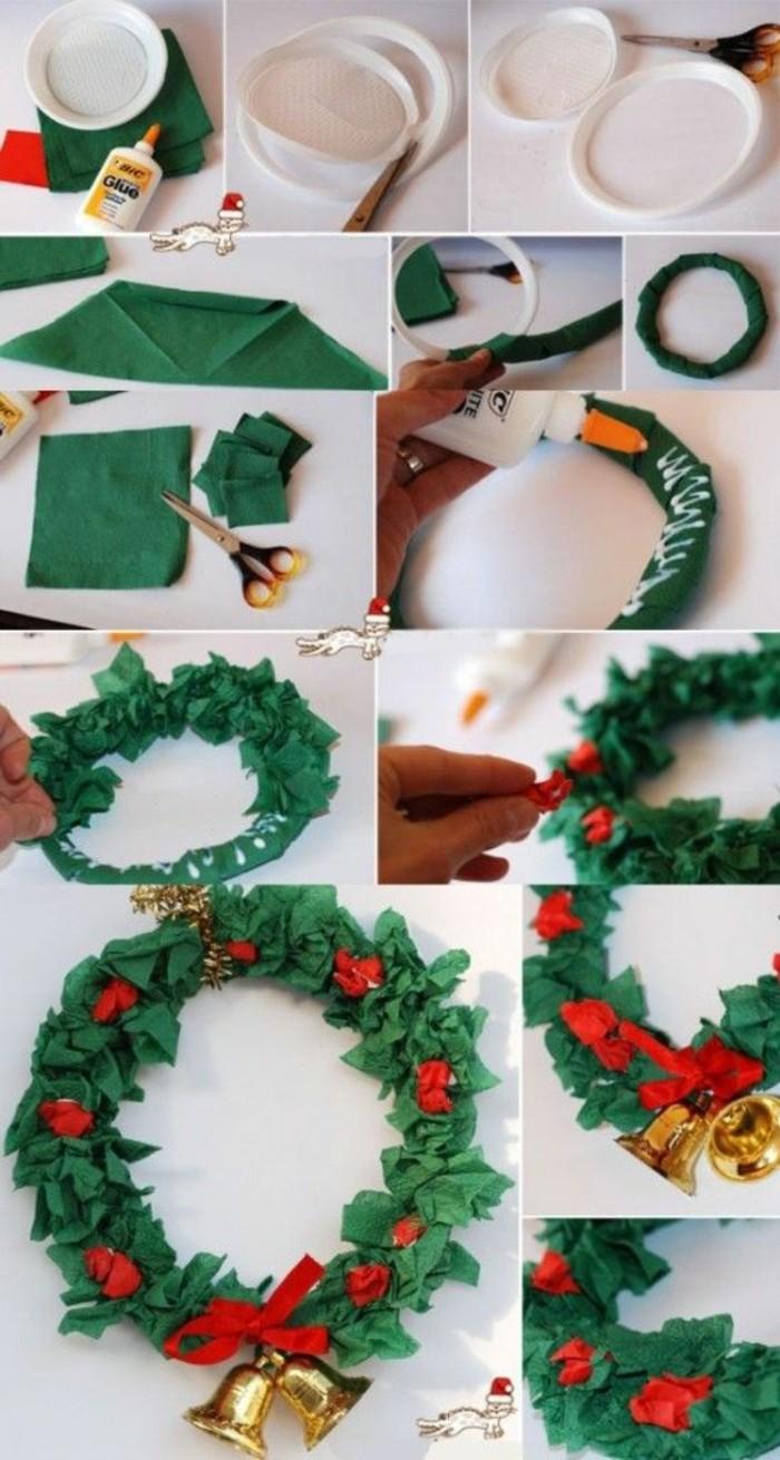 6-moderne-weihnachtsdeko-gruene-serviletten-schere-rote-schleife-gloecken