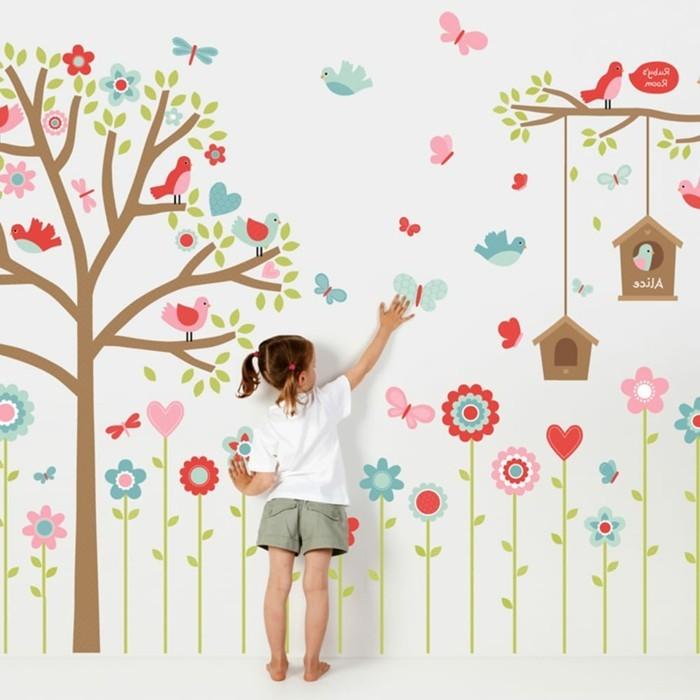 wandtattoo für kinderzimmer - 73 super ideen! - archzine, Schlafzimmer