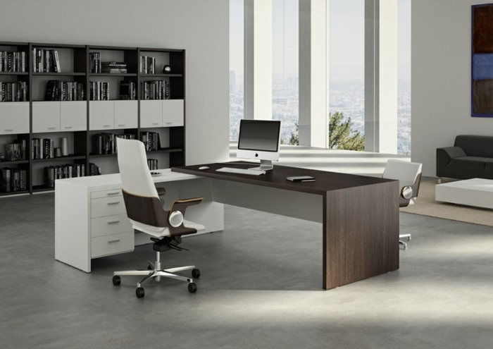Bueromoebel Moderner Interieur Ergonomischer Stuhl Funktionaler Schreibtisch