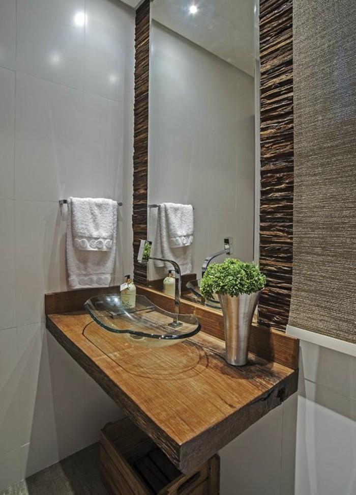 badezimmer-deko-bader-ideen-holz-pflanzen-waschbecken-aus-glas