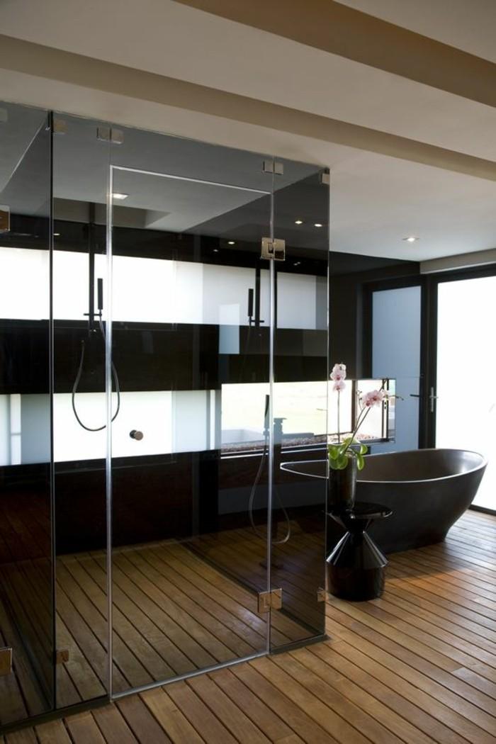 badezimmer-deko-moderne-bader-badezimmer-in-schwarz-mit-boden-aus-holz