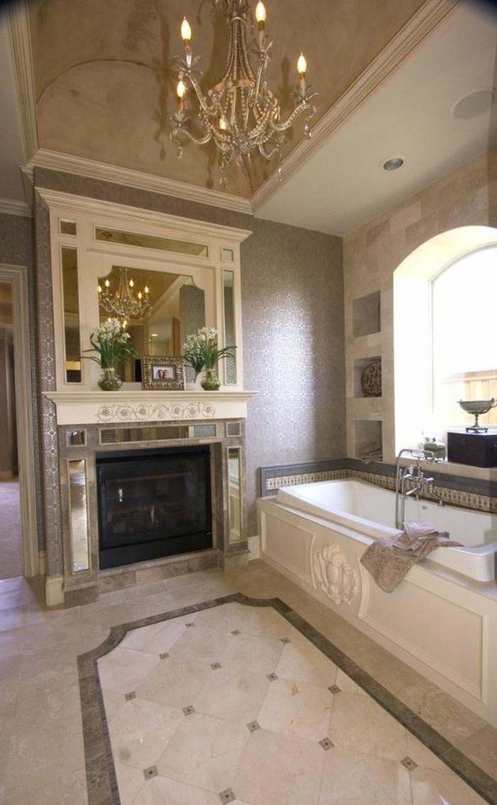 Unglaublich Badgestaltung Ideen Beste Wahl Badgestaltung-ideen-trumbader-badezimmer-mit-marmor-und-kaminsims