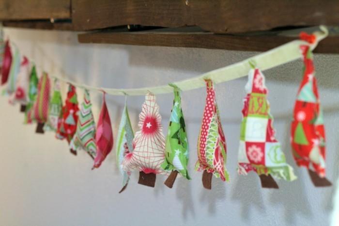basteln-mit-papierstreifen-kleine-weihnachtsbaume