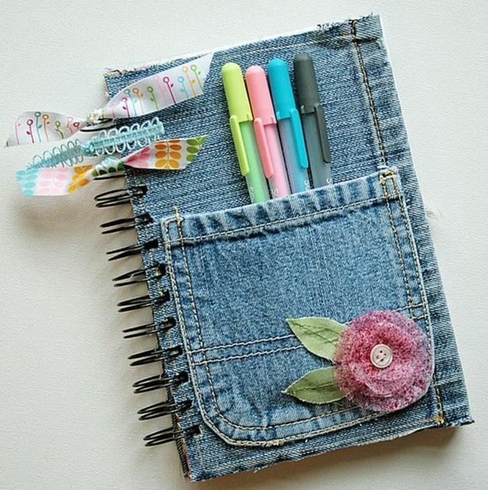 buchumschlag-selber-machen-buch-selbst-gestalten-jeans-motiv-deko-heft
