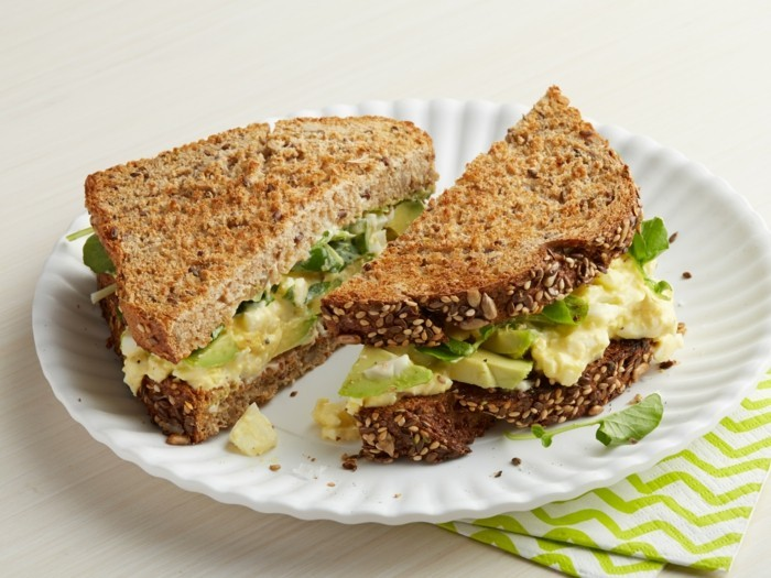 Tyler Florence's Egg Salad Sandwich with Avocado And Watercress As Seen On Food Network's How To Boil Water