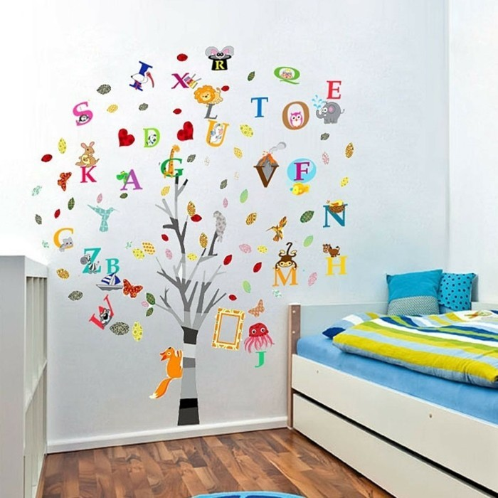 wandtattoo f r kinderzimmer 73 super ideen. Black Bedroom Furniture Sets. Home Design Ideas