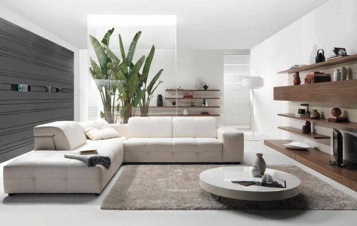 inspirierende dekoideen: kleiner innen-gartenbereich - archzine.net - Grose Wohnzimmer Pflanzen