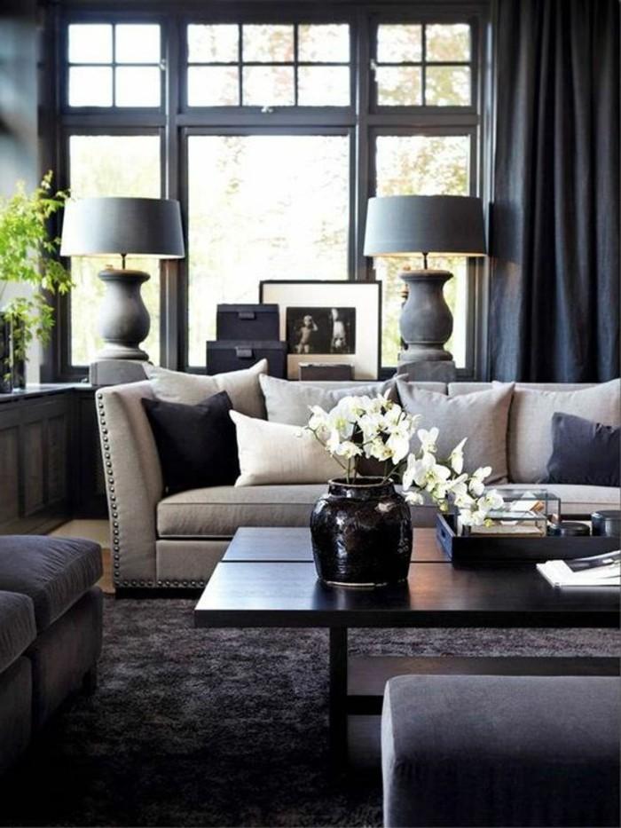 designer wohnzimmer schwarz