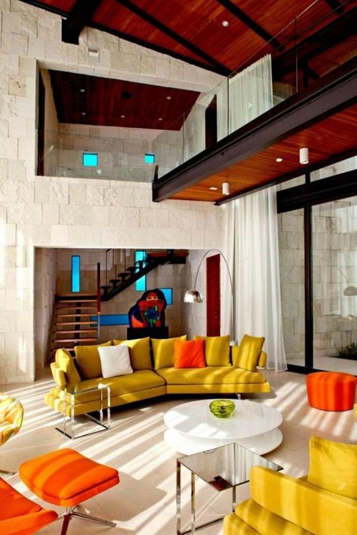 designer-wohnzimmer-in-orange-gelbe-und-beige-gestalten
