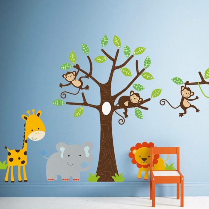 Wandtattoo für Kinderzimmer - 73 Super Ideen! - Archzine.net