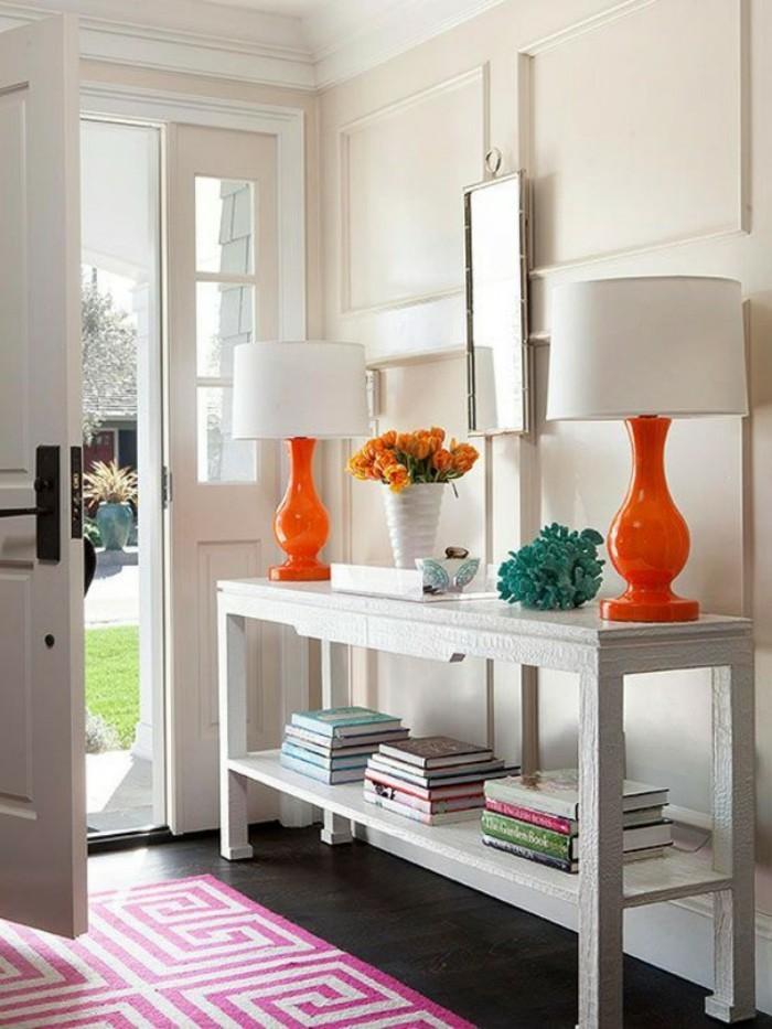 Flur deko faszinierende ideen f r ihr zuhause for Bunte stehlampen