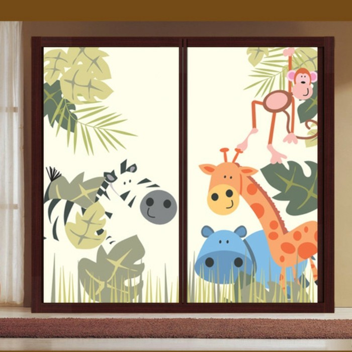 40 ideen f r sch ne kinderzimmer fensterdeko - Fensterbilder motive ...