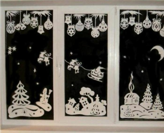 bezaubernde winter fensterdeko zum selber basteln. Black Bedroom Furniture Sets. Home Design Ideas