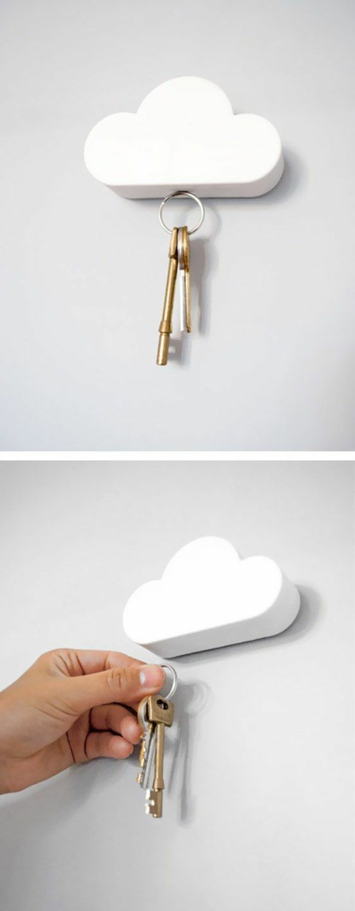 flur-einrichten-deko-flur-weise-wolke-schlussel