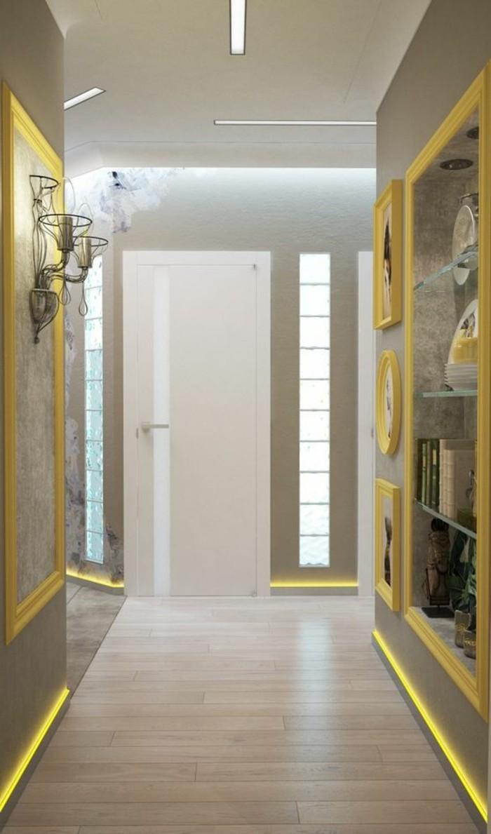 flur-einrichten-farbgestaltung-flur-grau-und-gelb-fotos-dekorationen-weise-tur