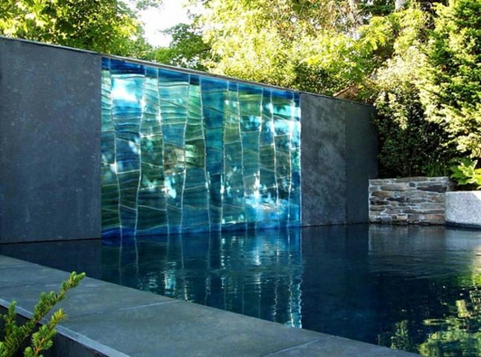 Sichtschutz Aus Glas - Die Neusten Tendenzen In 49 Bilder ... Pool Mit Glaswand Garten