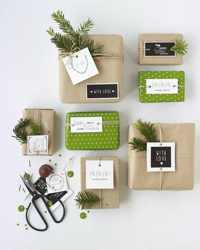 geschenkverpackung-verpackung-basteln-grun-mit-weisen-punkte-zweige