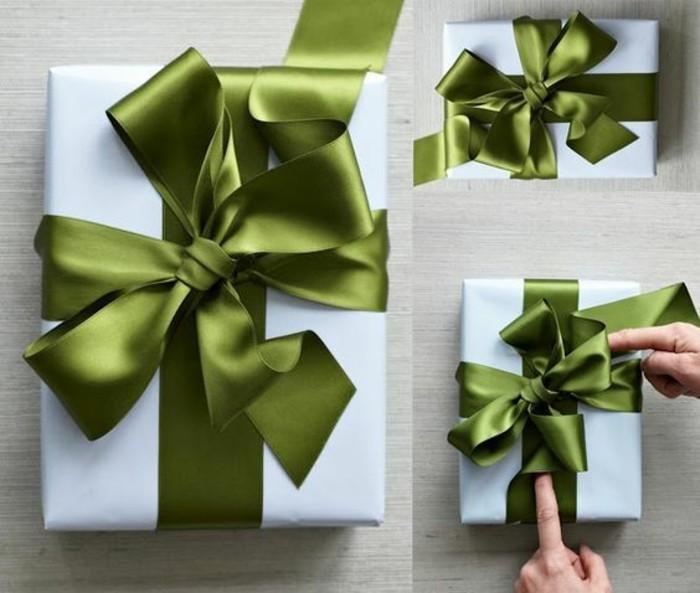 geschenkverpackung-verpackung-basteln-weise-verpackung-mit-grunen-schleifen