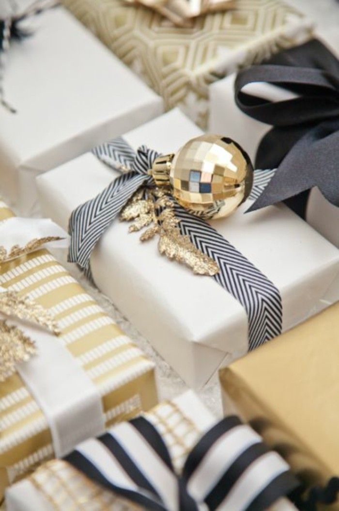 geschenkverpackung-verpackungen-basteln-in-gold-weis-und-schwarz