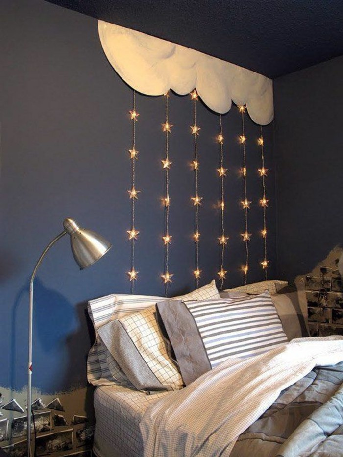 Blaue wand schlafzimmer - Dunkelblaue wand ...