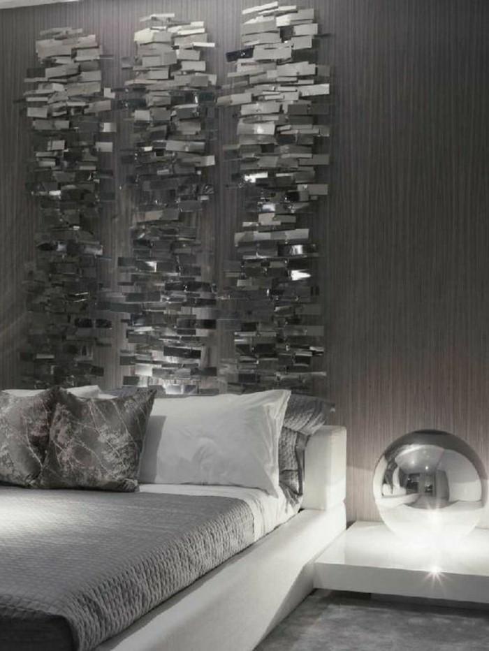 gestaltung-schlafzimmer-silberne-dekoration-waisses-bett