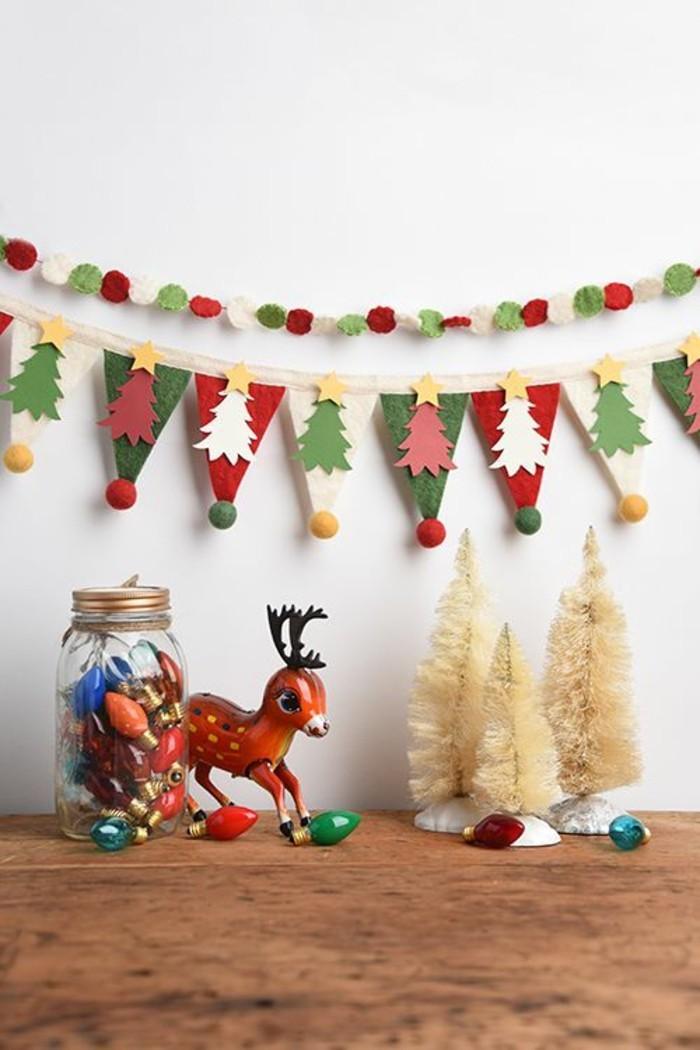 girlanden-basteln-zum-weihnachtsschmuck-in-grun-und-rot