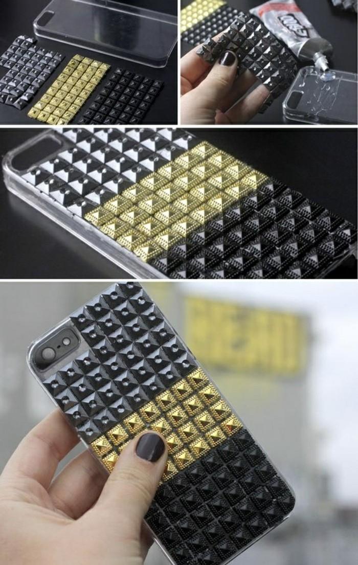 handyhulle-selbst-gestalten-handy-hullen-mit-goldenen-silbernen-und-schwarzen-dreidimensionalen-elementen-gestalten