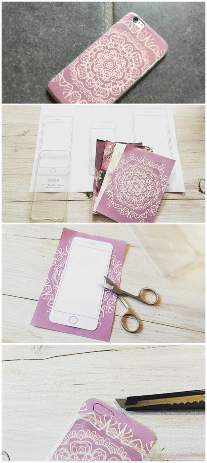 handyhulle-selbst-gestalten-handyhullen-selbst-gestalten-mit-rosa-papier