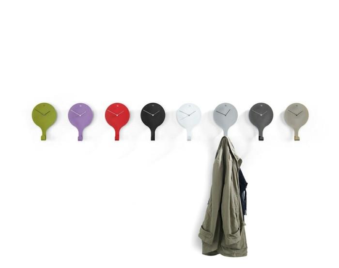 ideen-fur-garderobe-mit-kleinen-uhren